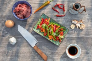 Zutaten für Rindfleisch Szechuan Art