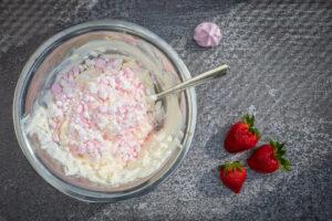 Mascarpone-Creme für den süßen Flammkuchen