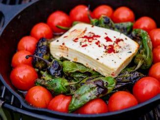 mediterranes Grillgemüse auf dem Holzkohlegrill